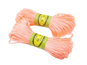 6Bundles 130Yards 2.5MM Pastel Pink Polyester Rattail Satin Cord for Chinese Knotting Cord & Jewellery Making