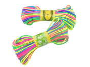 6Bundles 130Yards 2.5MM Colourful Polyester Rattail Satin Cord for Chinese Knotting Cord & Jewellery Making