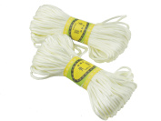 6Bundles 130Yards 2.5MM White Polyester Rattail Satin Cord for Chinese Knotting Cord & Jewellery Making