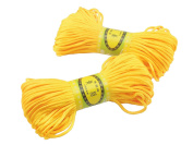 6Bundles 130Yards 2.5MM Golden Yellow Polyester Rattail Satin Cord for Chinese Knotting Cord & Jewellery Making