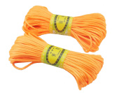 6Bundles 130Yards 2.5MM Orange Polyester Rattail Satin Cord for Chinese Knotting Cord & Jewellery Making