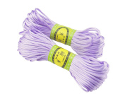 6Bundles 130Yards 2.5MM Lavender Polyester Rattail Satin Cord for Chinese Knotting Cord & Jewellery Making