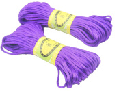 6Bundles 130Yards 2.5MM Amethyst Polyester Rattail Satin Cord for Chinese Knotting Cord & Jewellery Making
