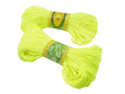 6Bundles 130Yards 2.5MM Light Yellow Polyester Rattail Satin Cord for Chinese Knotting Cord & Jewellery Making
