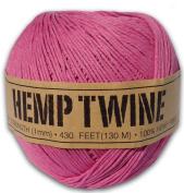 130m of 1mm 100% Hemp Twine Bead Cord in Pink