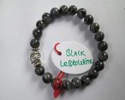 WholesaleGemShop - Black Lebrourite 8 mm Bead Buddha Bracelet