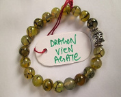 WholesaleGemShop - Dragon Vien Agate 8 mm Bead Buddha Bracelet