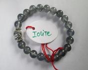 WholesaleGemShop - Iolite 8 mm Bead Buddha Bracelet