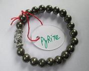 WholesaleGemShop -Pyrite 8 mm Bead Buddha Bracelet
