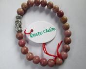 WholesaleGemShop -Rhodocrosite 8 mm Bead Buddha Bracelet
