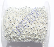 1.5m SIVER PYRITE FACETED RONDELLE BEADED BEADS SILVER PLATED 3MM ROSARY BEADS CHAIN