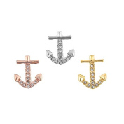 3 Pieces Anchor Key Charm For 10mm Wide Keeper Belt Bracelet 3 colour