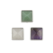 3 Pieces New Stone Charms For 10mm Wide Keeper Belt Bracelet
