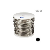 SILVER PLATED COPPER ROUND WIRE 18 GAU 60m 0.5kg SPOOL