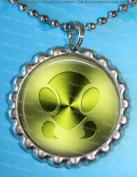 1 Bug Symbol Silver Bottle Cap Pendant Necklace