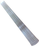 HAWK Flat Stainless Steel Ring Sizer With Markings On Both Sides, American And European Sizes