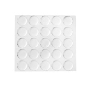 Self-adhesive Clear Rubber Feet Bumpons, (8.5 mm) Sheet of 100