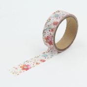 White Beautiful Retro Flower Washi Paper Masking Tapes DIY Tape Scrapbooking Sticker Decorative Stickers Party Favours