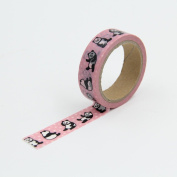Pink Panda Washi Paper Masking Tapes DIY Scrapbooking Stickers Gift Wrapping Sticker