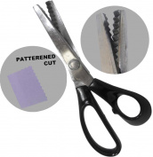HAWK 20cm Pinking Shears With Black Pastic Handle