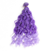 25cm*100cm DIY High-temperature Wire Purple Wool roll Hair row for BJD / Blythe /Barbie Doll Wigs