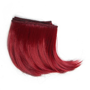 10cm*100cm DIY High-temperature Wire Wine Red Big Wave Curly Hair row for BJD / Blythe /Barbie Doll Wigs