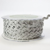 OZXCHIXU(TM) Silver Metallic Ric Rac 6mm Ribbon Lace on a 10m length , Decoration