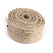 WINOMO Burlap Linear Ribbon for DIY Crafts Home Decoration - 10M*3.8CM