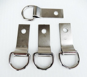 Set of 4 Saddle Concho Repair Clip & Dee 1.6cm D Ring / 3.8cm Clip Tack holders