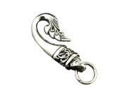 Maori Tail Stainless Steel keychain Hook Biker Trunker Wallet Key Chain Fob Clip