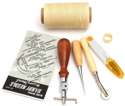 Taloyer 7pcs Leather Carft Hand Stitching Sewing Tool DIY Kit