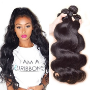 Sunwell Brazilian Virgin Hair 3 Bundles Body Wave Unprocessed Virgin Human Hair Weave Extensions 100g/pc Natural Colour