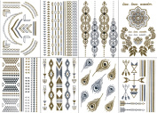 Premium Temporary Metallic Tattoos - Gold, Silver and Multi-Coloured By BG247®