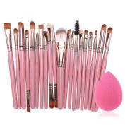 Eshion 15 Colours Makeup Cosmetic Face Cream Concealer Palette + 70 PCS Brushes Kit Set + Face Power Puff Sponge