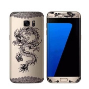 Samsung Galaxy S7 Edge Case,AutumnFall® Dragon Full Body Decal Protector Films for Samsung Galaxy S7 Edge