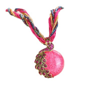 Doinshop Luxury Women's Bohemian Rhinestone Necklace Peacock Gem Pendant Statement