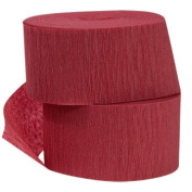 2 ROLLS Crepe Paper Streamers70.2m Total-Made in USA (Maroon/Burgundy) by Greenbrier