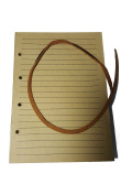 Antique Kraft Brown Paper Refill for Riun Ex Travelling Leather Journal (6 X 4.4). Refill Includes Leather Strap.