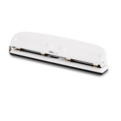 Chris-Wang Adjustable White 4-Hole Paper Punch Puncher for Binder Planner Inserts - 10 Sheet Capacity - 6mm Hole Diameter - Benchmarking & Scale Design