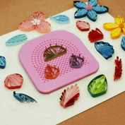 WellieSTR The Quiller's Grid Guide for Paper Crafting Paper Quilling Handmade Paper Craft DIY Tool Quilling Paper Tool