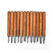 Wood Carving Tools Professional 12-Piece Wood Carving Chisel Set, Best Recommended Wood Carving Knife Kit for Beginner