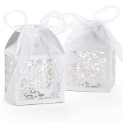 LEORX Hollow Design Wedding Sweets Candy Gift Favour Boxes Bomboniere - 50 Pieces