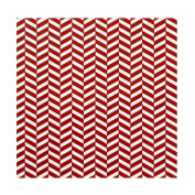 C.R. Gibson Red Herringbone Gift Wrap