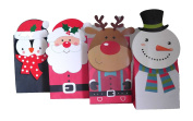 Set of 24 Diecut Christmas Gift Sacks in 4 Different Designs