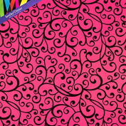 Hot Pink & Black Swirl Gift Wrap - Large 80cm x 6.1m Roll - 4.6sqm