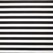 Bold Stripe Gift Wrap Paper - Black And White - 80cm x 6.1m Long Roll - 4.6sqm