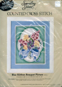 Blue Ribbon Bouquet Picture Counted Cross Stitch Kit 50241