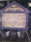 Recipe for a Happy Home - Country Cross Stitch Kit #CK663