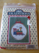 Traditions Train Counted Cross Stitch Ornament Kit