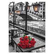 Gsha 5D DIY Diamond Painting Red Rose Mosaic Cross Stitch